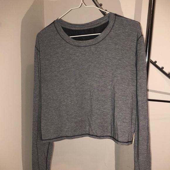 Grey mesh-back running shirt